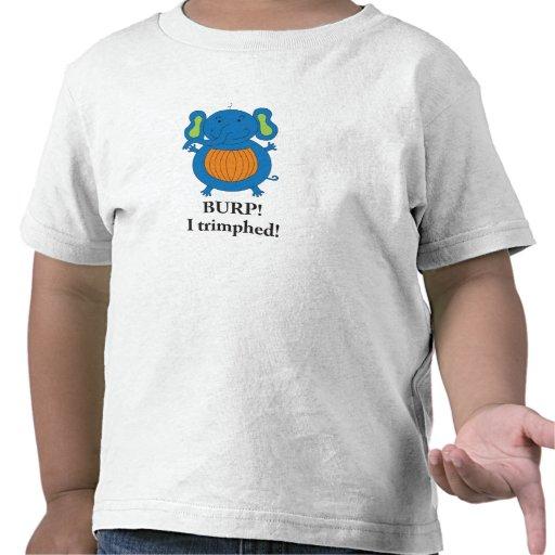 Camiseta del elefante de Trimph para los niños peq