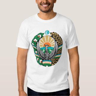 Camiseta del emblema del Uzbek Polera