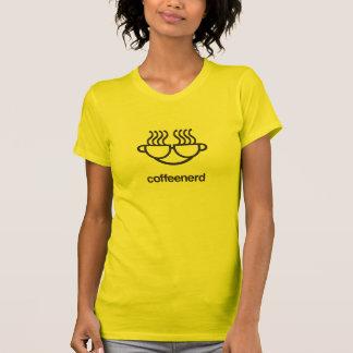 Camiseta del empollón del café playera