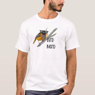 Camiseta del empollón del pájaro