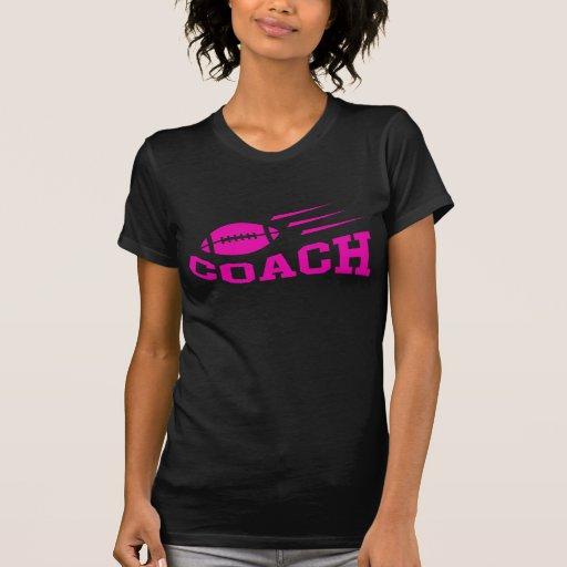 Camiseta del entrenador de fútbol con despedir la polera