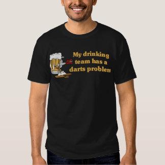 Camiseta del equipo de los dardos playera