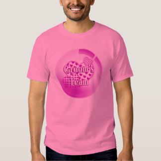 Camiseta del equipo de los novios camisas