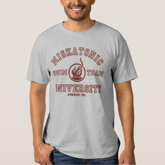 Camiseta del equipo de natación de Miskatonic Playeras