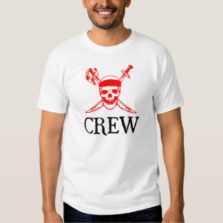 Camiseta del equipo del pirata camisas