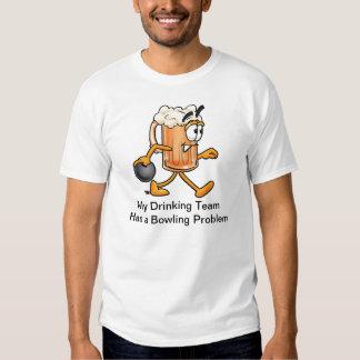 Camiseta del equipo que rueda con la taza de poleras