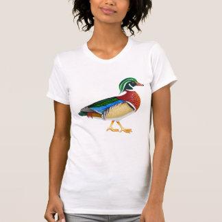 Camiseta del escote redondo de las señoras del pat