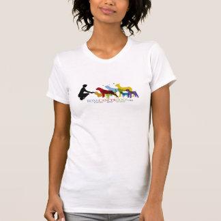 Camiseta del escote redondo de las señoras polera