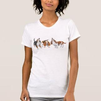 Camiseta del escote redondo de los afloramientos poleras