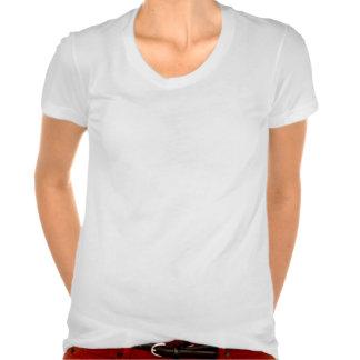Camiseta del escote redondo del algodón de Polly Playeras