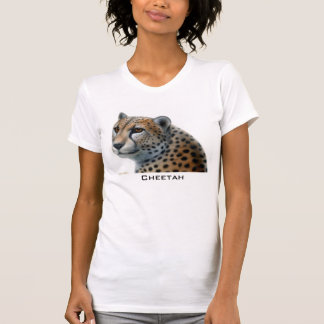 Camiseta del escote redondo del guepardo