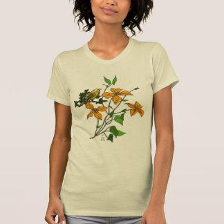 Camiseta del escote redondo del lirio tigrado playera