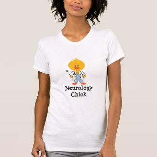 Camiseta del escote redondo del polluelo de la playera