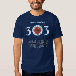 Camiseta del escuadrón de caza 303 camisas