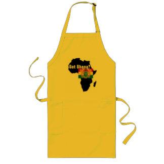 Camiseta del escudo de armas de Ghana y etc Delantal Largo