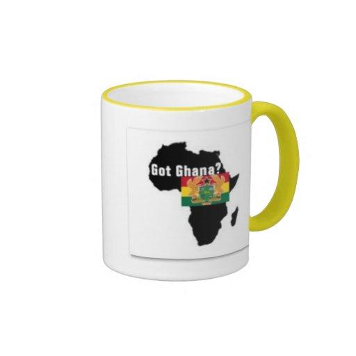 Camiseta del escudo de armas de Ghana y etc Taza A Dos Colores