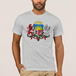 Camiseta del escudo de armas de Letonia