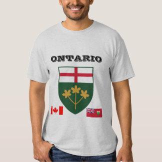 Camiseta del escudo de armas de Ontario* Poleras