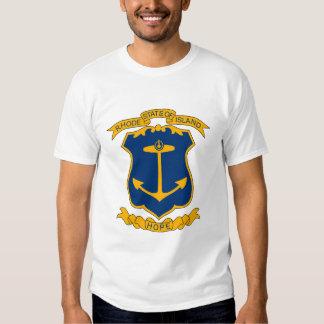 Camiseta del escudo de armas de Rhode Island Playeras