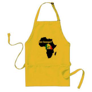 Camiseta del escudo de armas de Senegal y etc Delantal
