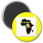 Camiseta del escudo de armas de Senegal y etc Iman De Nevera