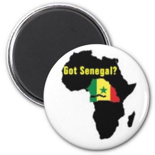 Camiseta del escudo de armas de Senegal y etc Imanes
