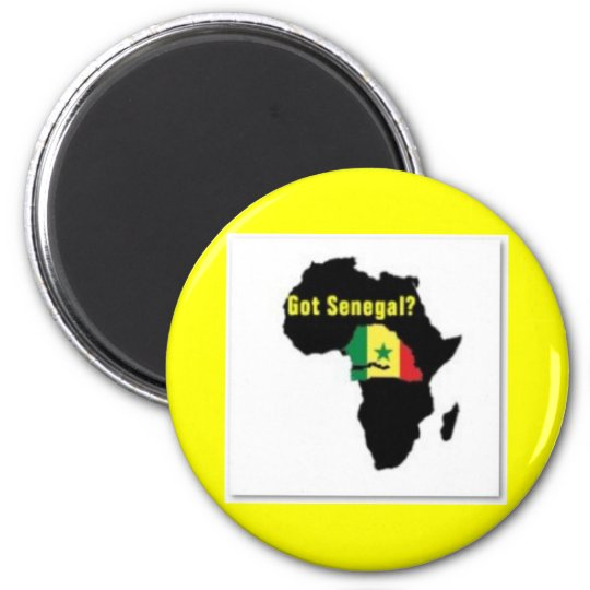 Camiseta del escudo de armas de Senegal y etc Imán Redondo 5 Cm