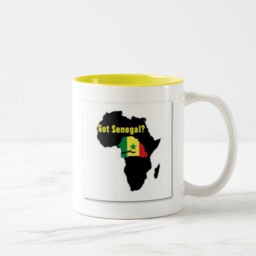 Camiseta del escudo de armas de Senegal y etc Taza De Café
