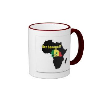 Camiseta del escudo de armas de Senegal y etc Taza De Dos Colores