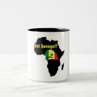 Camiseta del escudo de armas de Senegal y etc Taza De Dos Tonos