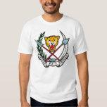 Camiseta del escudo de armas de Zaire Playeras