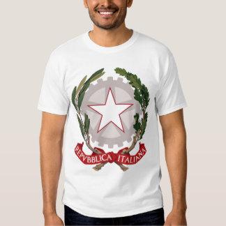 Camiseta del escudo de armas del emblema de Italia Polera