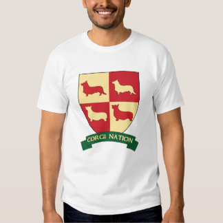 Camiseta del escudo de la nación del Corgi Camisas