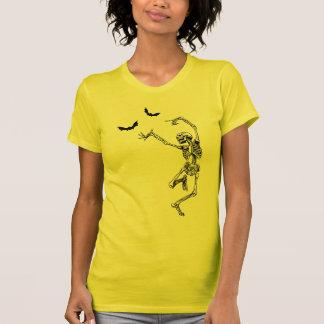Camiseta del esqueleto del baile