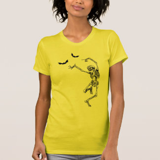 Camiseta del esqueleto del baile polera