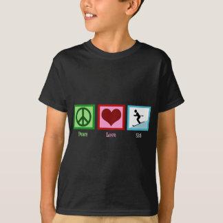 Camiseta del esquí del amor de la paz