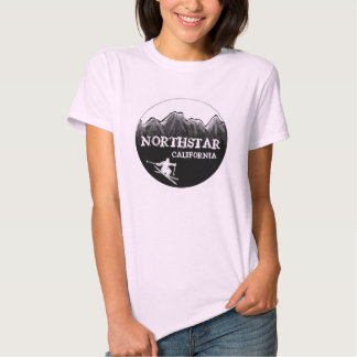 Camiseta del esquiador de las señoras rosadas de remera