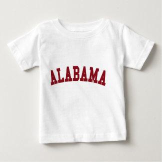 Camiseta del estado (bebé): Alabama Poleras