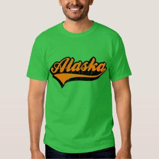 Camiseta del estado de Alaska los E.E.U.U. Playeras