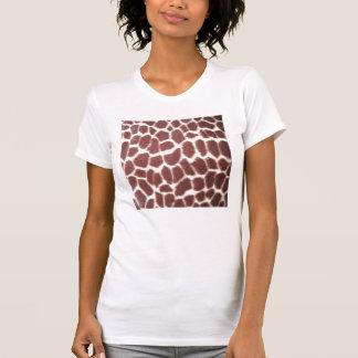 Camiseta del estampado de girafa