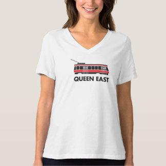 Camiseta del este del tranvía de la reina