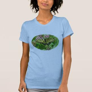 Camiseta del este femenina de la mariposa de remeras