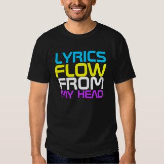 Camiseta del estilo libre de las letras playeras