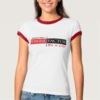 Camiseta del FACTOR de PODER (blanca con la franja Remeras