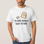Camiseta del feliz del té de Hacer Poleras