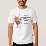 Camiseta del fiesta de Paintball Playeras