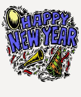 Camiseta del fiesta del Año Nuevo Poleras