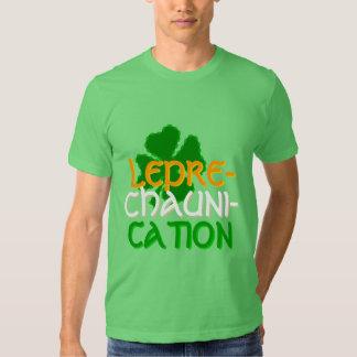 Camiseta del fiesta del día de Leprechaunication S Playera