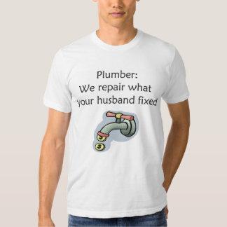 Camiseta del fontanero playeras