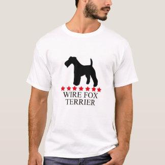 Camiseta del fox terrier del alambre con las